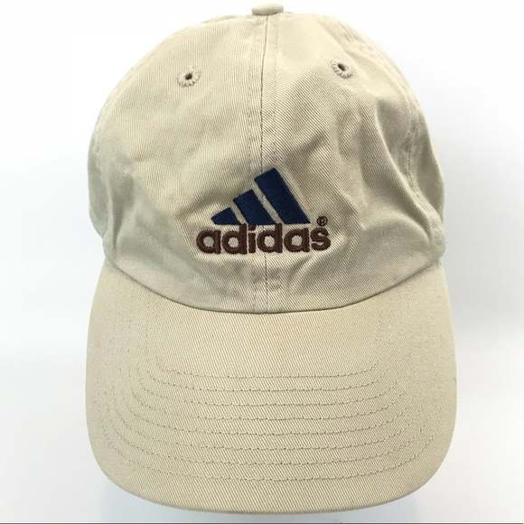 ffc1c1a7aa9 adidas Other - Vintage Adidas Khaki Hat Adjustable Strapback Cap